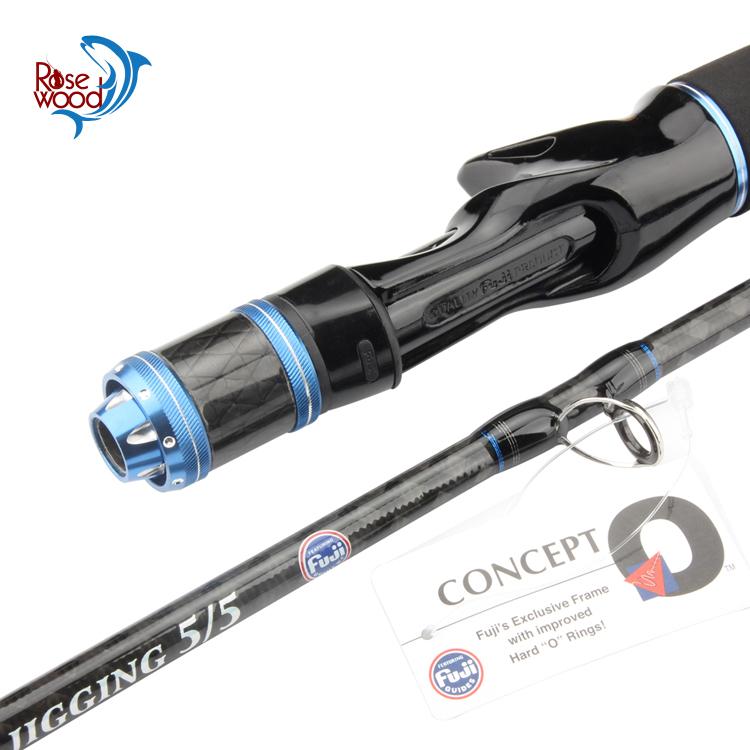 Rosewood Fuji Slow jigging fishing rod(632) 5/5 1.95m Max 200g casting jigging fishing rod carbon PE 1-3 Super Power Drag 7KG