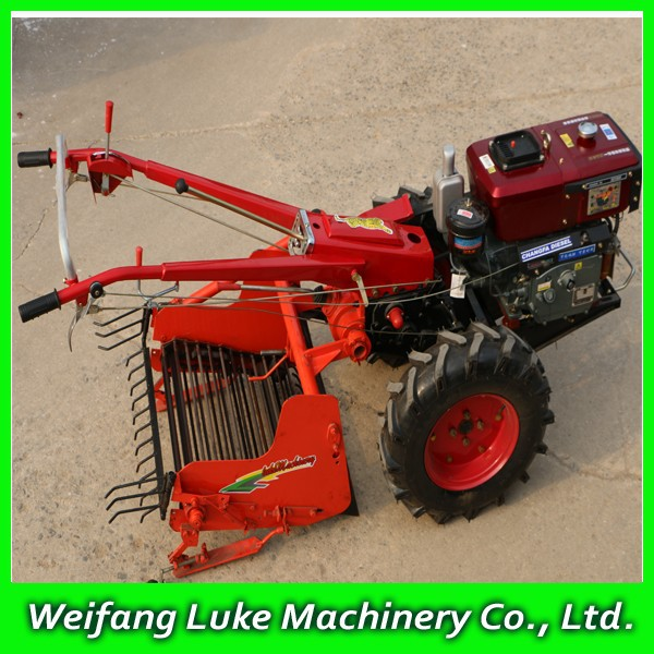 12hp Mini Walking Tractor With Potato Harvester