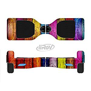 The Neon Wood Color-Planks Full-Body Wrap Skin Kit for the iiRov HoverBoards and other Scooter (HOVERBOARD NOT INCLUDED)