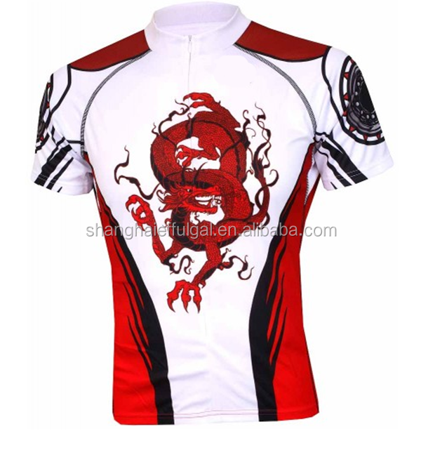 men's custom cycle clothing 2015 Dye sublimation printing dragon design cycling wear high quality Outdoor wear