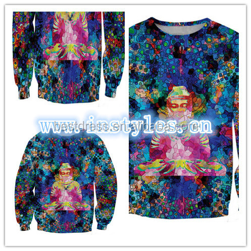 wholesale cheap Womens Girls 3D Space Galaxy Sports Sweatshirts Top Jumper hoodies