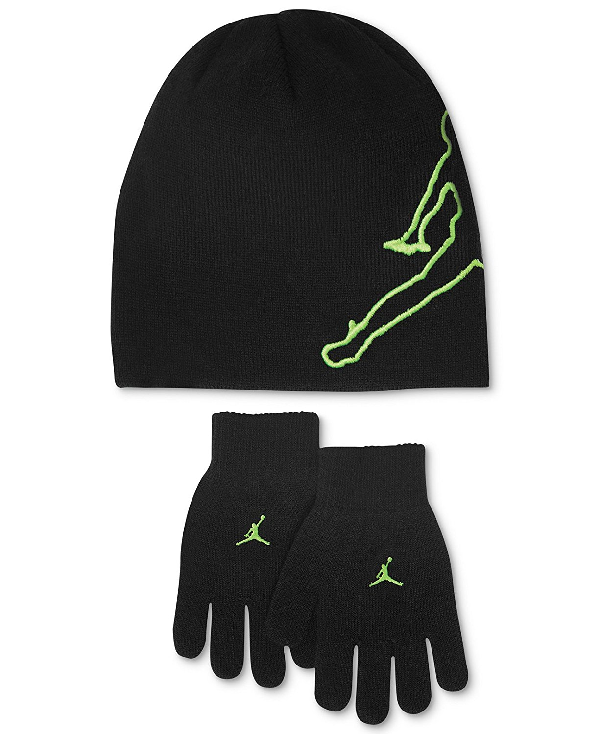 581842475f5 Get Quotations · Nike Jordan Boys Winter Hat Beanie Cap Gloves Set Youth 8  20