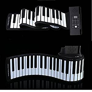 New KONIX PD61 PD88 61/88 Key Portable Roll Up Piano with Mini Keybord By KTOY
