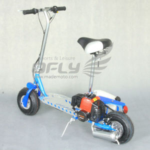 43CC CE Approved Foldable Gas Scooter with Steel Board GS4303