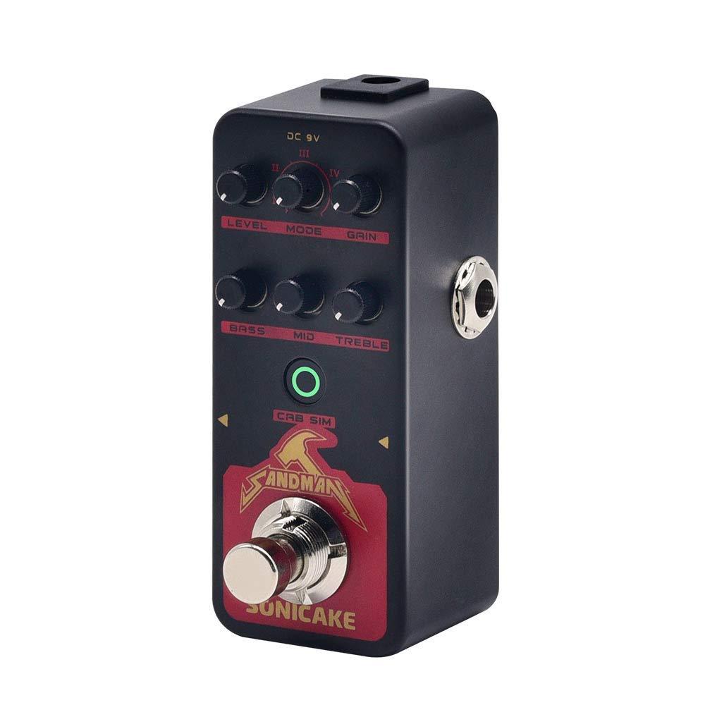 SONICAKE SANDMAN Digital Preamp Distortion Guitar Effects Pedal w/h 5 Modern-Style Hi-Gain Guitar Amps Models