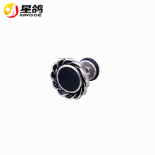 New Fashion Accessories Silver /Black/Gold Color Stainless Steel Stud Earring Charm Jewelry Flower Stud Ear For Men Women Bijoux