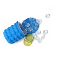 Custom mini ice cube maker food grade silicone ice bucket beer