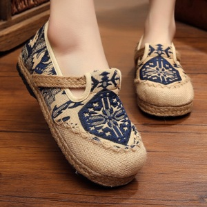Handmade straw sandals The fisherman shoes folk style linen woven shoes Pure manual Weave