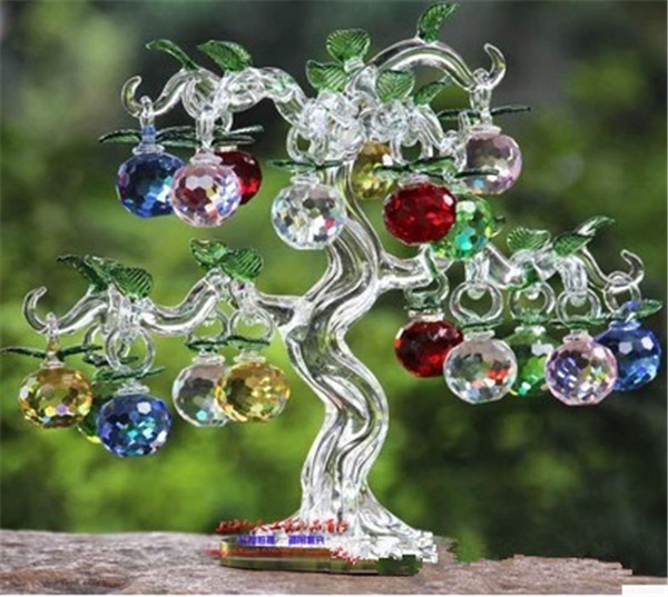 Factory Directly Sale Business Gifts K9 Crystal Apples