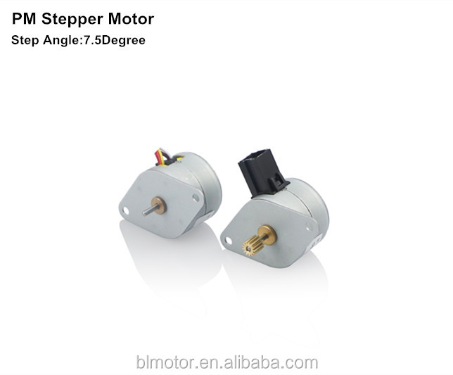 12v bipolar 7.5degree pm magnetic stepper motor on stock used for automative meter