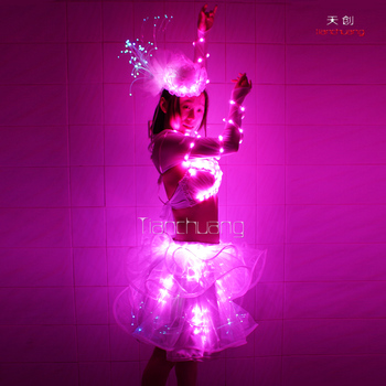 Neon Colored Clothing Glowing Lovely Little Girl Party