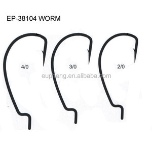 High carbon steel worm fishing hook EP-38104 MARINE hook