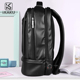 Private label leisure luxury men multifunctional canvas leather travel backpack