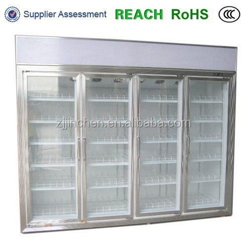 Aluminium frame beverage display cooler/showcase glass door