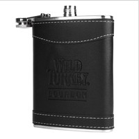 2019 6oz New Style Leather Wrapped Stainless Steel Hip Flask For Men