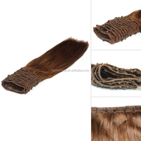 2017 Best Selling Easy wear brazilian Micro Ring Weft Hair extension