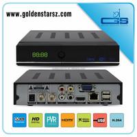 New design super dvb-s2 satellite receiver twin tuner DVB-S2 support H.265