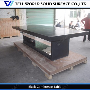 High end office furniture black conference table specifications