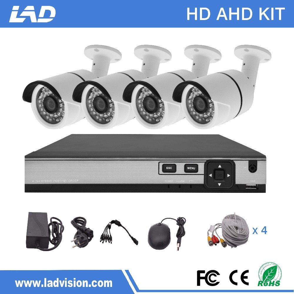Hot selling 2.0MP CCTV Camera System 4 channel AHD CCTV DVR KIT