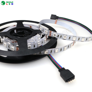 24V rgb 10mm smd5050 silicone glue waterproof IP65 led rgb led strip