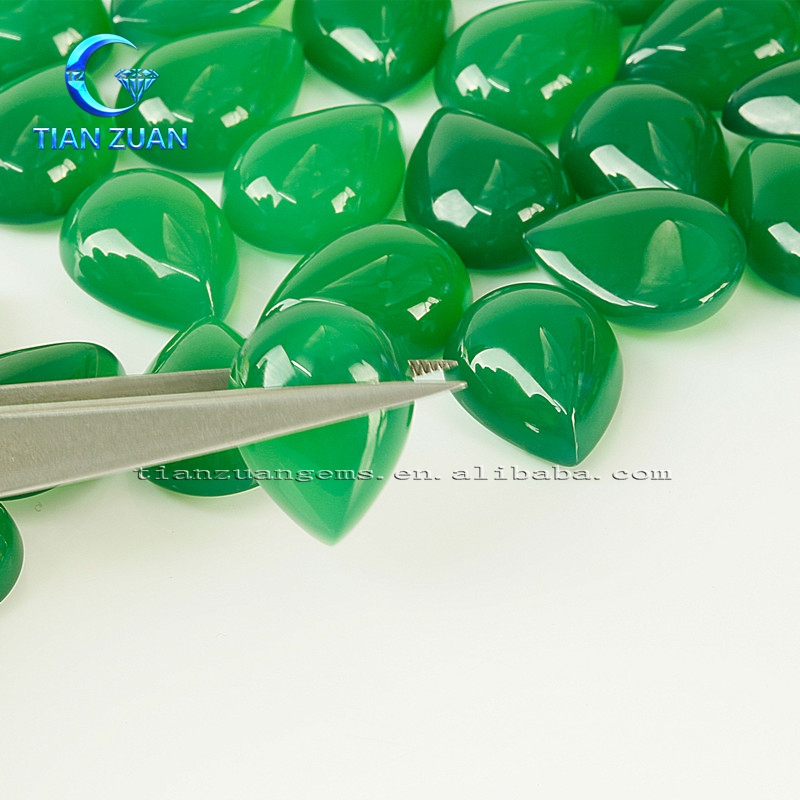 Wholesale Natural Chrysoprase pear shape natural agate loose gems