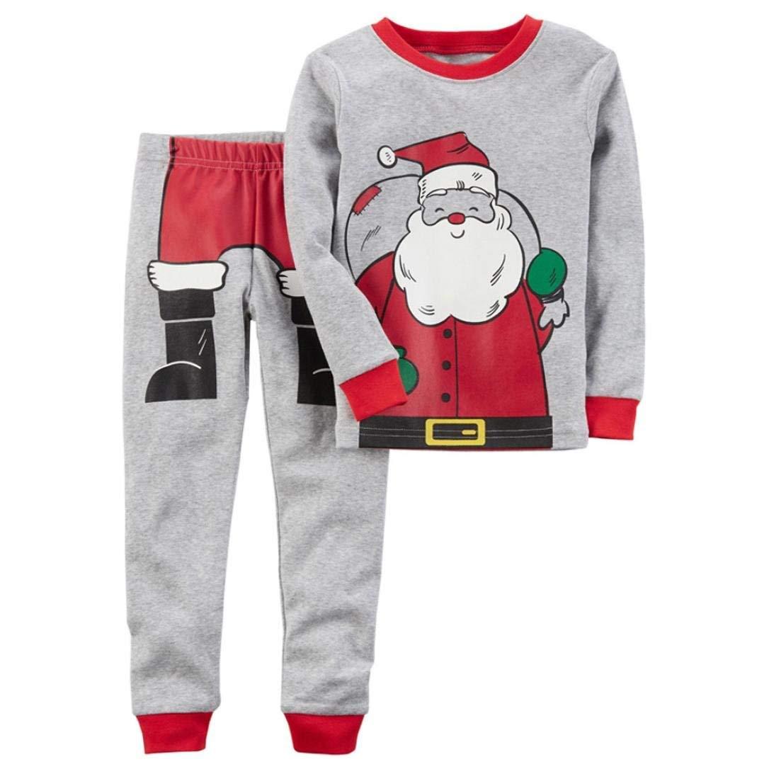 5a38ccba67589 Get Quotations · Vicbovo Clearance Sale Kids Toddler Baby Boys Girls  Christmas Pajamas Clothes Set Santa Print Shirt Pants