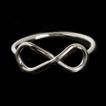 Rhodium Plated Cheap One Dollar Infinity Ringstacking Ring Eternity