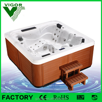 factory Chinese air and whirlpool combo massage 5 person bath hot tub