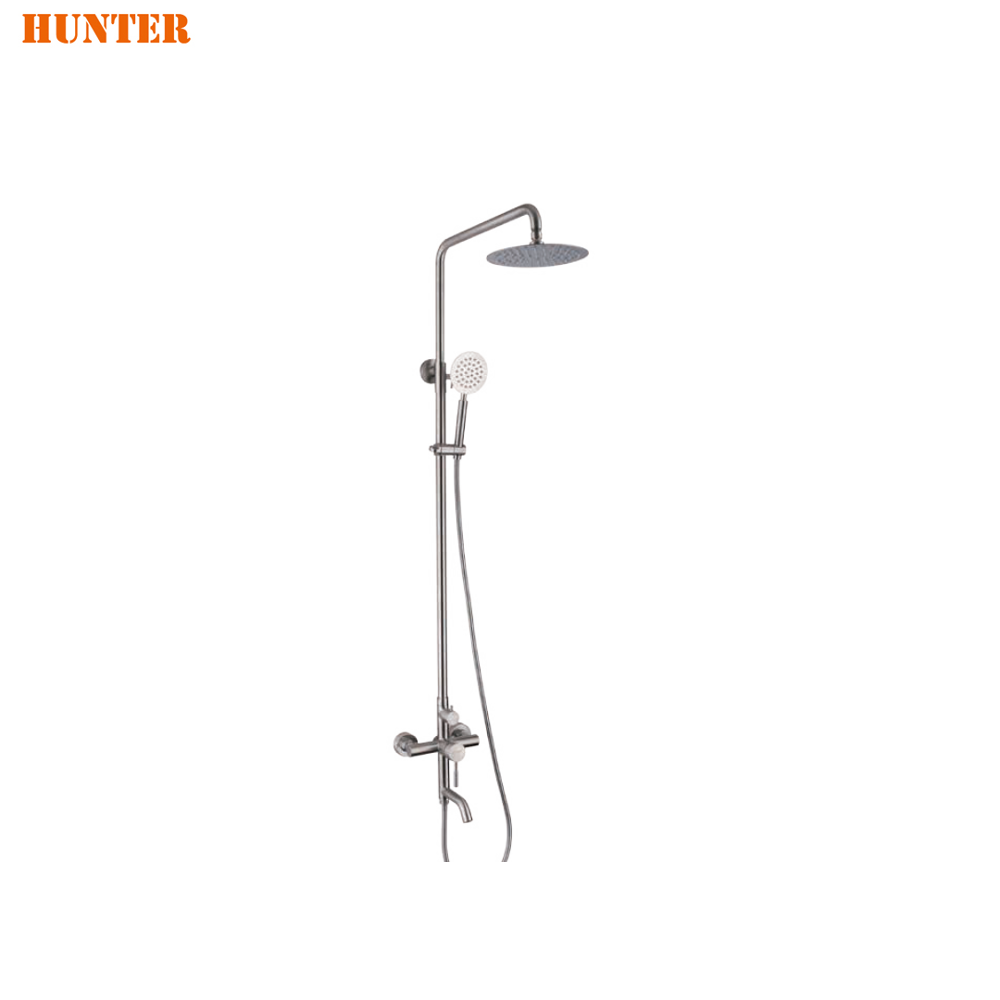 Shower Faucets 2 Dial 1 Way Bathroom Thermostatic Rain Shower Head Set Round Mixer Faucet Tap Shower Valve Panel To Adopt Advanced Technology Shower Equipment