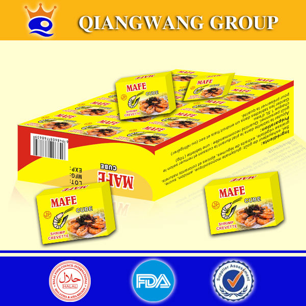 QIANGWANG GROUP 10G SHRIMP SEASONING CUBE BOUILLON CUBE-------VERY FAMOUS IN THE AFRICA