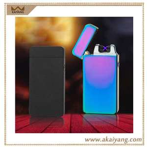 Windproof No Gas Flameless X Beam Plasma Double New Electric USB Arc Lighter