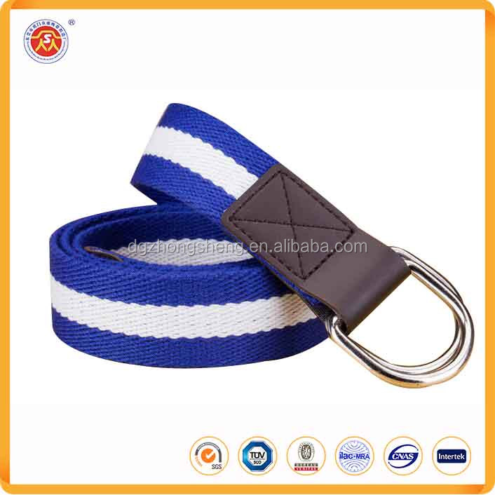 Wholesale Man Canvas Woven Custom striped Braided Canvas Belt