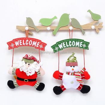 Christmas Snowman Hang Party Door Decor The Door Christmas Wreath Decorations For Tree Adornos Navidad 2017 Buy Door Hanging Santa Christmas
