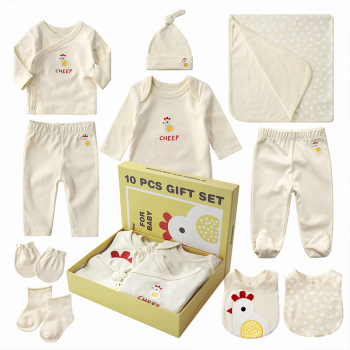 BKD Wholesale n Unisex Cute Pattern 100% Organic Cotto Baby Clothes Set