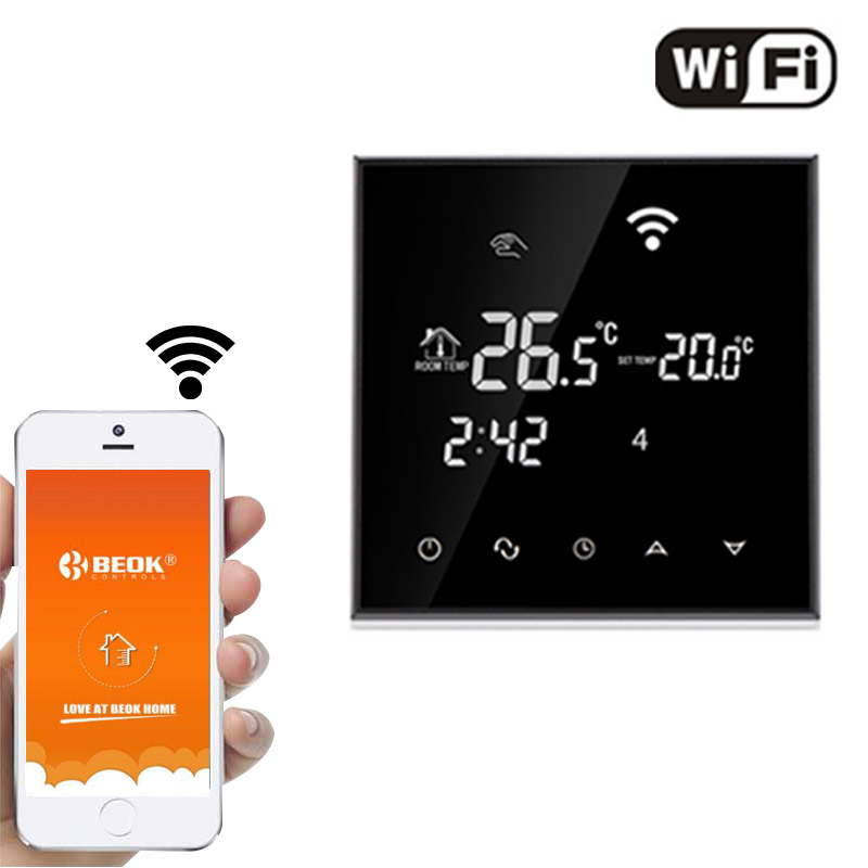 New Design Hvac Internet Remote Wifi Wireless Control Thermostat With Touch Screen