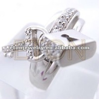 Hot sale ideal jewelry lovely key and lock design artisan handcrafted best selling wholesale fashion 925 silver party dress ring