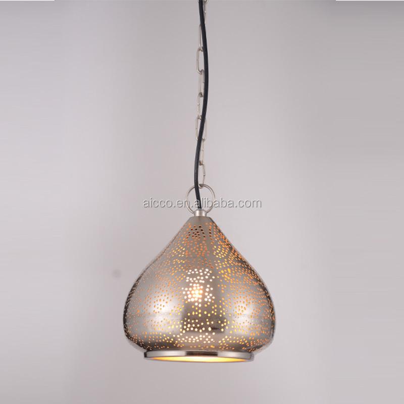 Handmade Metal Shade Pendant Light With Small Holes Decorative ...