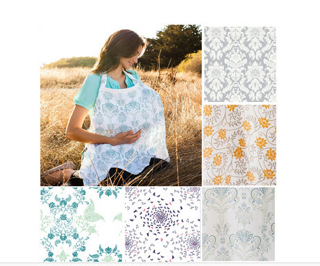 New Nursing Cover Breastfeeding Cover Baby Infant Breathable Cotton Muslin retail wholesale nursing clothe