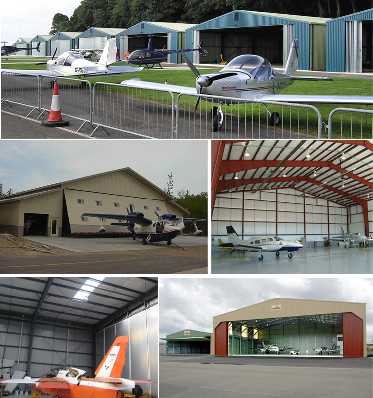 Low Cost Fast Install Light Steel Structure Prefabricated Aircraft Hangar With Best Price
