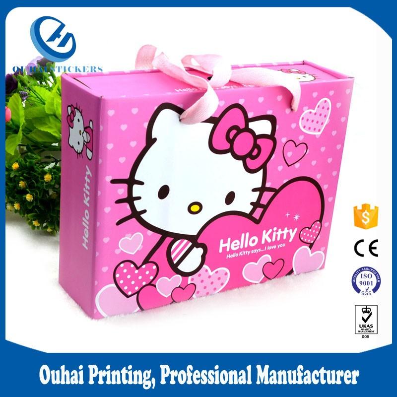 बाल दिवस उपहार बॉक्स गत्ते जूता दराज पैकेजिंग बॉक्स हाथ बैग बच्चों के लिए