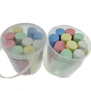 10 pcs cheap chalk markers colors sidewalk jumbo white chalk in the transparent box
