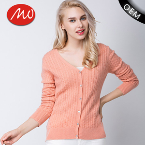 Wholesale cable knit sweater nurses cardigans with button front