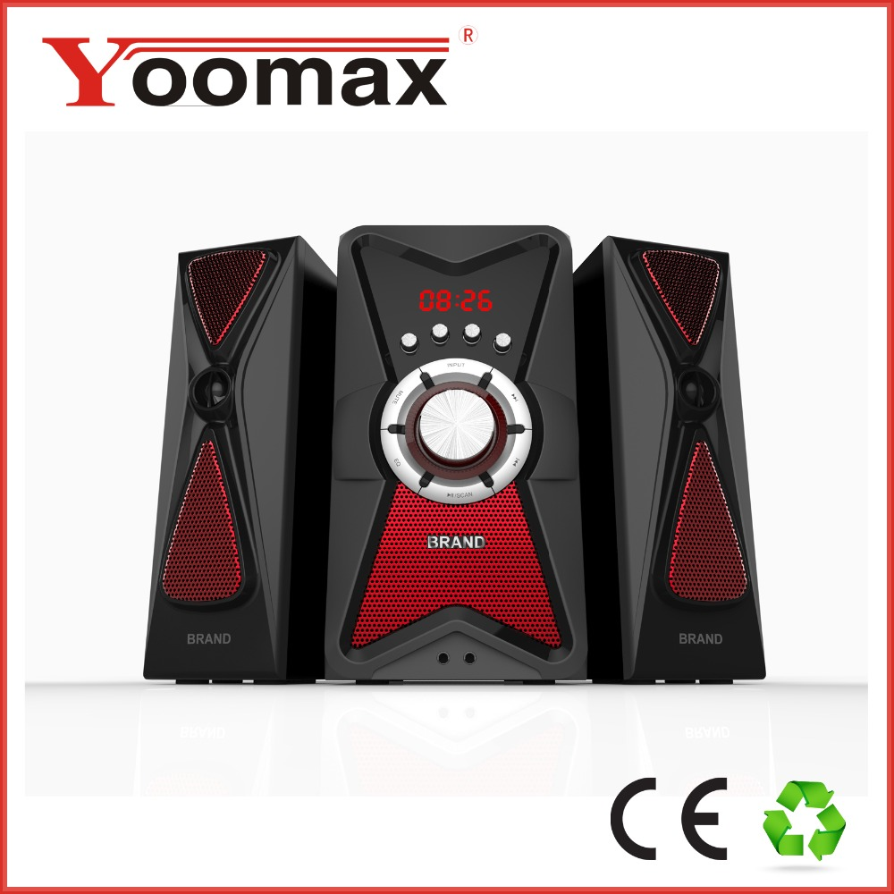 2017 High quality hot selling 2.1 tower speaker system bluetooth with breathing light usb sd fm