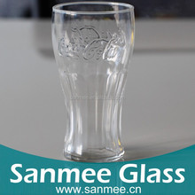 High Quality Famous Soda Drinks Branded Glass Cup Gift