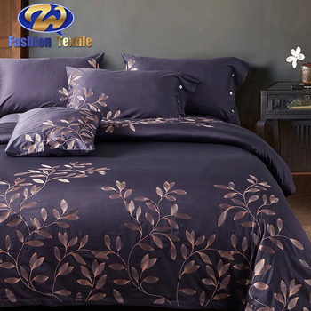 Factory provide modern embroidered bedding sets bed sheets