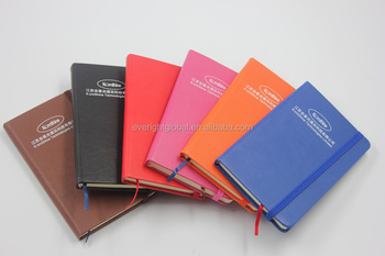 T0065 Mini size high quality PU cover pocket notebook with elastic string
