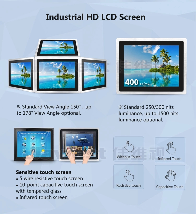 11.6 inch All in One PC  Capacitive Touch Non touch Industrial Computer