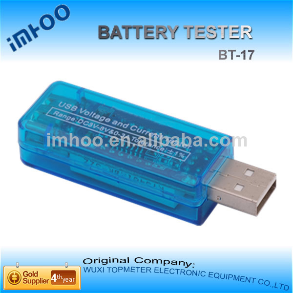 Mini USB Power Current and Voltage Tester aa battery tester radio shack