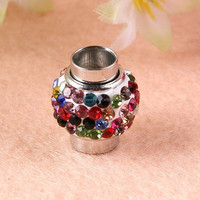 Various color choose crystal rhinestone pave strong magnetic clasps for scarf leather bracelet