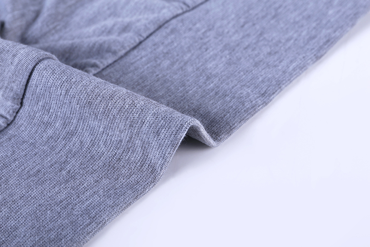 New Plain Dyed Thin Grey Solid Spring Blank Pullover Terry Cotton Hoodie Custom